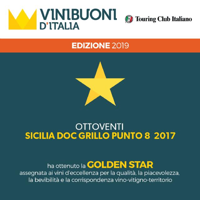 GOLDENSTAR 2019 AL GRILLO PUNTO 8 2017
